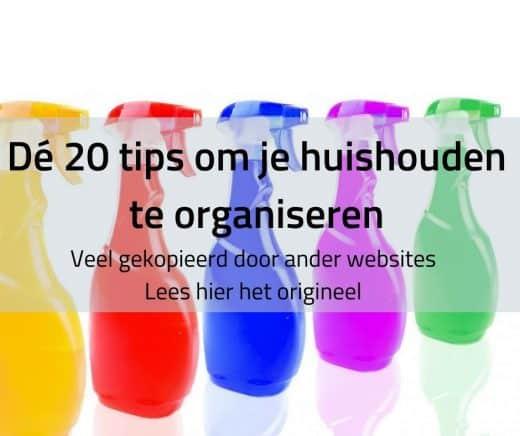 Tips om je huishouden te organiseren