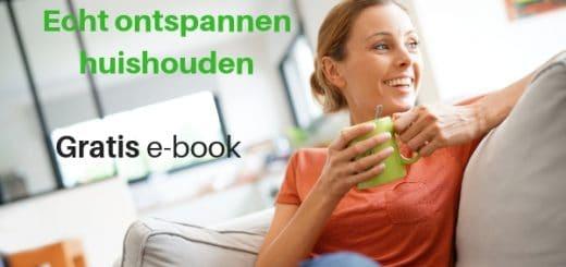 Echt ontspannen huishouden. Gratis e-book. Zo lukt het jouw ook om een ontspannen huishouden te voeren