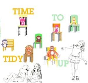 tijd om op te ruimen stoeltjes