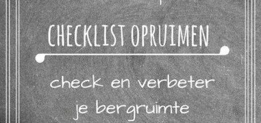 checklist opruimen helpt je om snel iets te doen aan stapels die steeds terugkomen door je bergruimte aan te passen