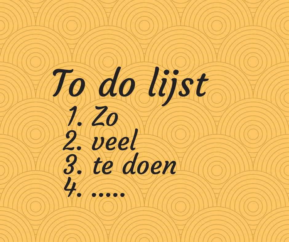 een to do lijst die werkt. Van to-do lijst naar doen