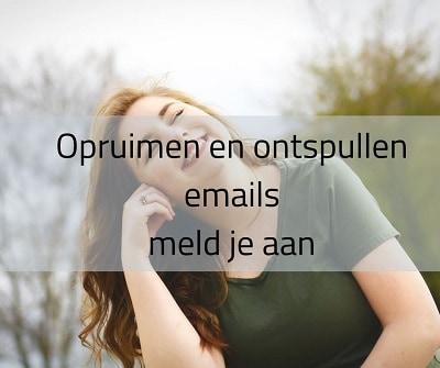 meld je aan voor emailserie over opruimen en ontspullen